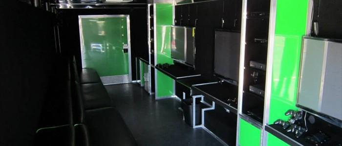 Inside, 5 Huge Screens with Digital Sound!